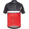 GORE BIKE WEAR Power Trail Cykeltrøje korte ærmer Herrer rød/sort